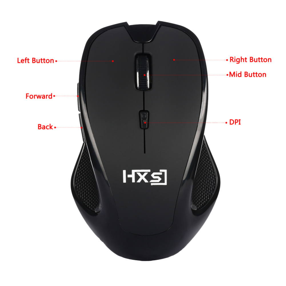 Universal 2.4G USB 6 Buttons Optical Wireless Game Mouse for Laptop PC Computer
