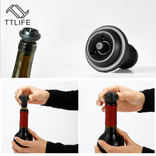 TTLIFE 4pcs Red Wine Vacuum Air Pump Bottle Stopper Reusable Sealer Saver Bar Supplies