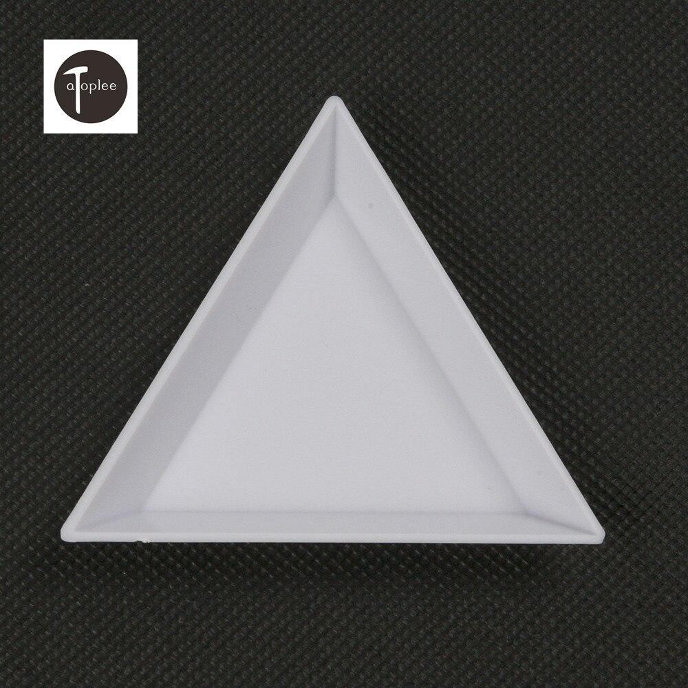 Werkzeuge 1/10 Stücke Kunststoff 7,3x5,3x1,1mm Dreieckigen Tablett Strass Diamant Box Platte Diy Werkzeuge Für Die Speicherung Schmuck Drogen Kleine Dinge Hohe QualitäT Und Geringer Aufwand