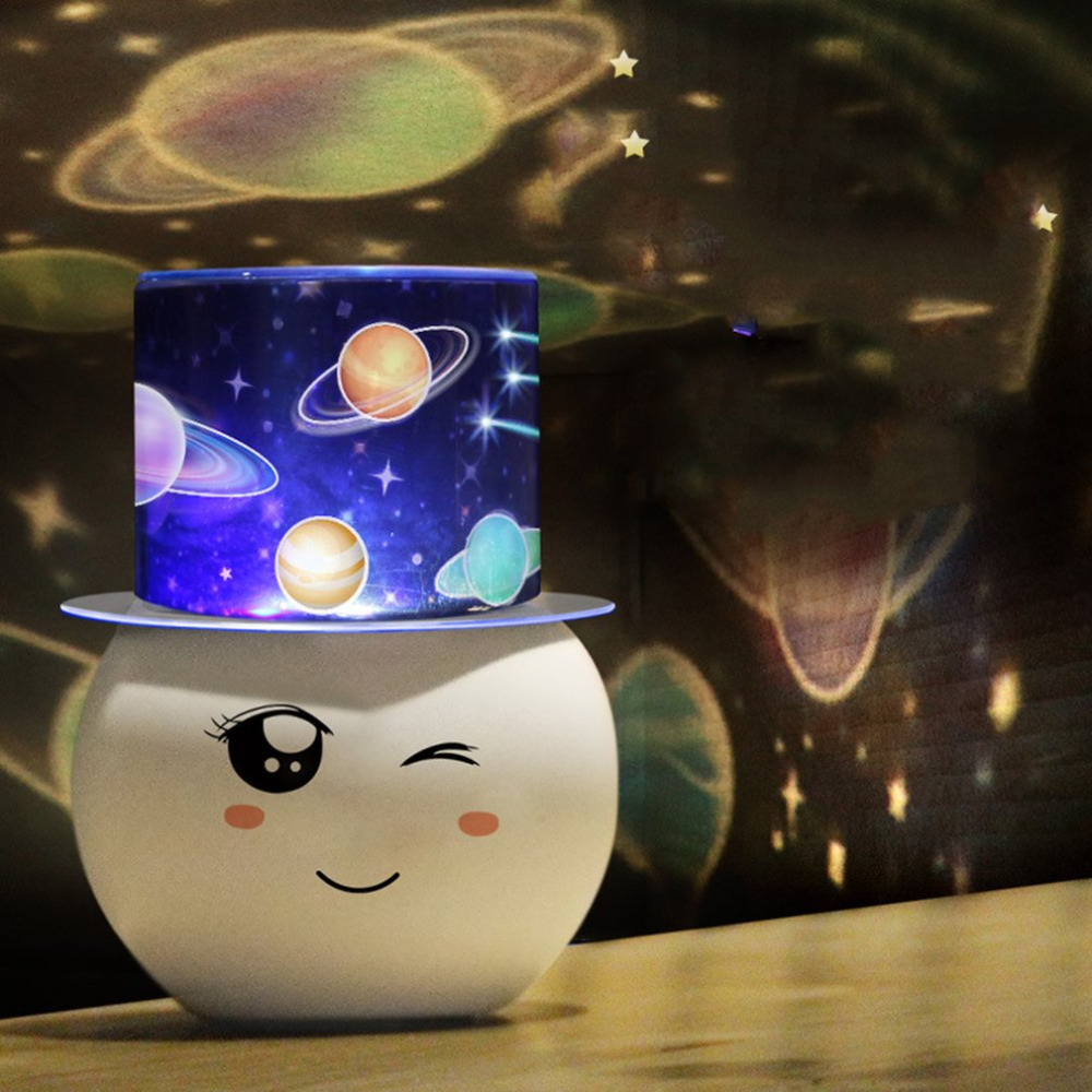 ICOCO Colorful LED Star Sky Projector Lamp Gift Flashing Starry Moon Sky Projection Romantic Room Cute Night Light for Children iminovo night light with music starry sky led mini star projector lamps battery powered for lovers children creative gift