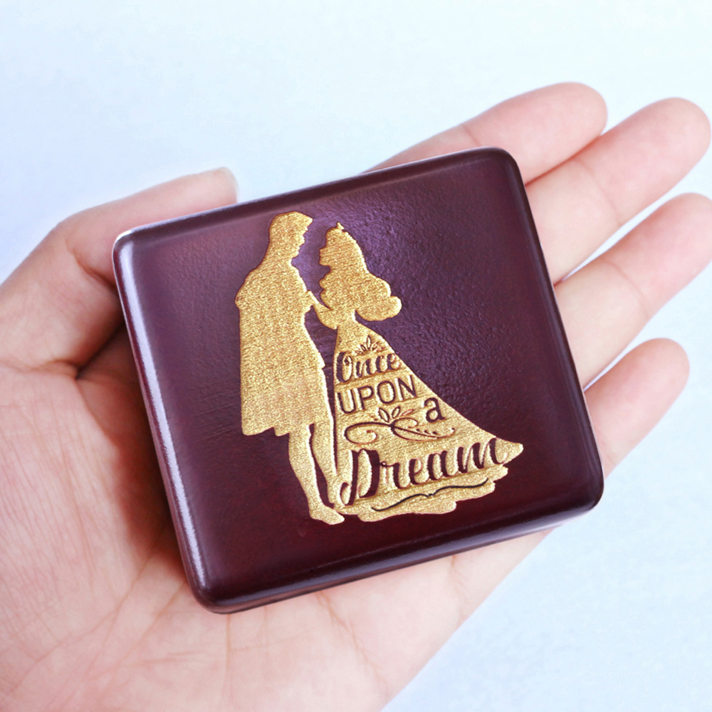 a59f990f061 Sinzyo Handmade Wooden Once upon a December Music Box birthday Gift ...