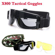 Army Tactical Glasses Airsoft Paintball Shooting Windproof Military Goggles Anti-UV Protection