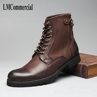 Nieuwe Martin laarzen laarzen herenschoenen leer klassieke winter vintage mannen laarzen in Guangzhou fabriek groothandel
