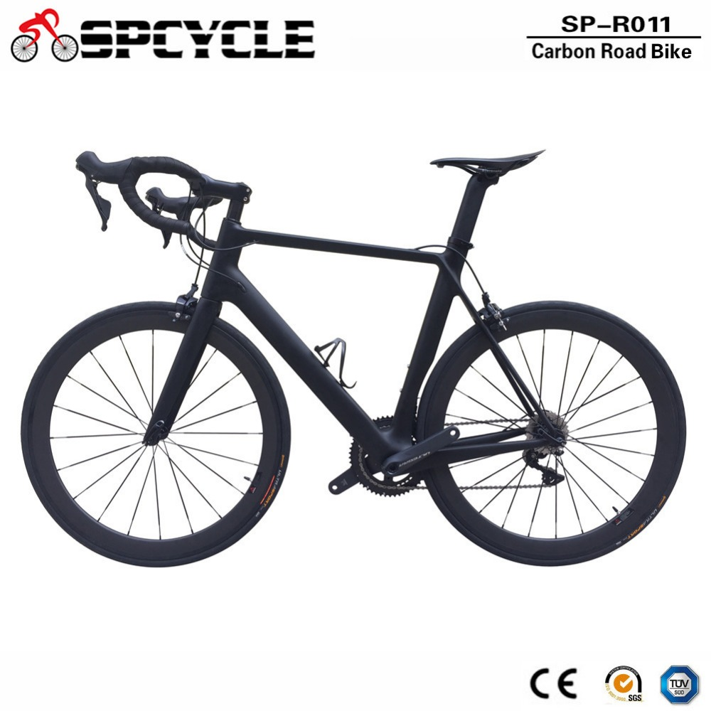 Full Carbon Road Bike 700C Carbon Complete Bicycle With 50mm Carbon Wheels Ultegra R8000 Road Bike 49/51/54/56/58cm Available