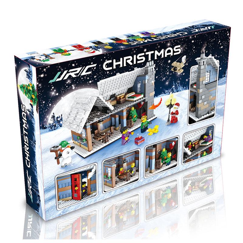 3D Christmas Village Building ABS Intelligent Educational Building Blocks Interactive Ability Christmas Construction Toy цены