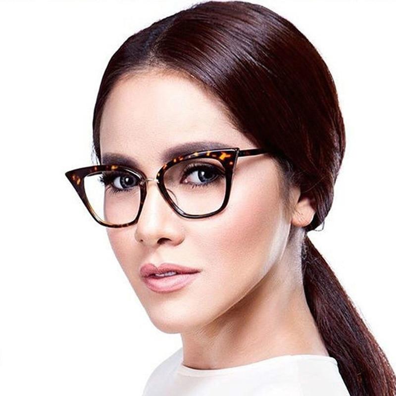 ANEDF Dames Cat eye Brillen Frames Amber Merk Designer Computer Brilmonturen Cat Eye Brillen Oculos Brilmonturen
