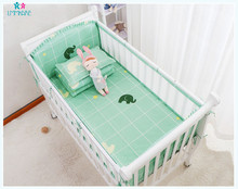 Cartoon Cotton Breathable Mesh Baby Crib Bumper Newborn Collision Bed Rail for Protector Babies Nursing