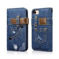XOOMZกางเกงยีนส์ออกแบบFilpกรณีที่ครอบคลุมสำหรับiPhone 7
