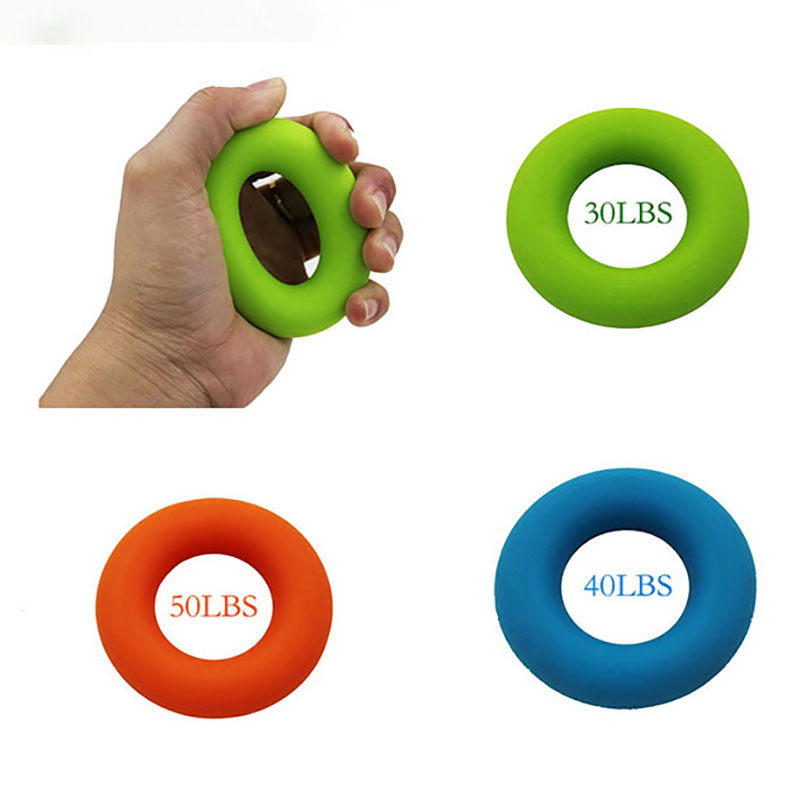 Silicone Finger Grip Portable Hand Grip Ring Carpal Expander Finger Trainer Grip Strength Rehabilitation Stress Ring Ball 2019