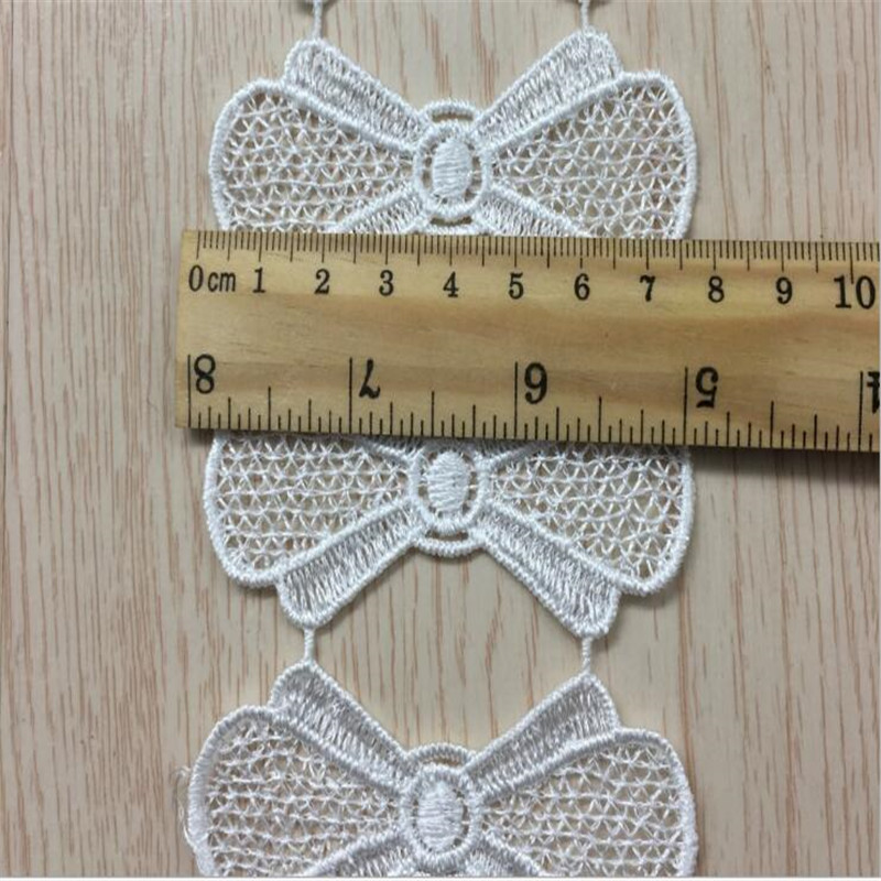 2 yd Vintage Star Lace Trim Polyester Crochet Wedding Sewing Ribbon DIY Craft