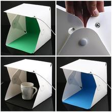 Katlanır Lightbox fotoğraf fotoğraf stüdyosu Softbox 2 Panel led ışık yumuşak kutu fotoğraf arka plan kiti ışık kutusu DSLR kamera için