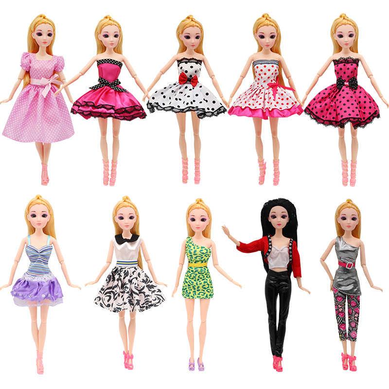 12 StyleSet Bar muñeca fiesta boda Vestido moda ocio Boneca ropa bies muñecas accesorios regalo para niña Niño