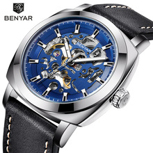 2019 BENYAR Top Brand Luxury Men's Watches Skeleton Business Automatic Mechanical Watch Men Waterproof Sports Wrist Watches все цены
