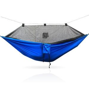 Image 5 - Hängematte Mit Bug Net Tragbare Camping Hängematte Moskito