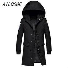 AILOOGE Winter Jacket Men Casual Cotton Thick Warm Coat Men's Outwear Parka Plus Coats Windbreak Snow Military Jackets Pockets
