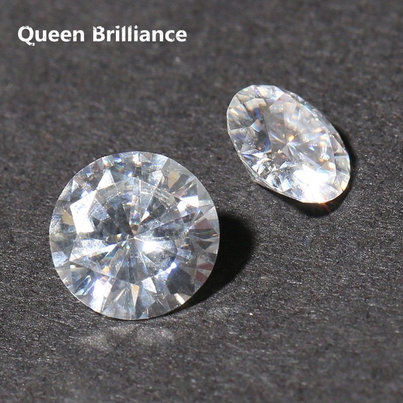 Test Positive Lab Grown Diamond 4Carat ctw 10mm Round Brilliant No Less Thanks G-H VVS2 Moissanite Loose Stones High Quality ...
