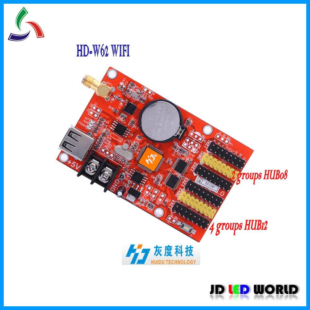 W62 HD W62 (古い バージョン w40) wifi ワイヤレス と usb ポート led看板コントローラ カード を サポート p10 、 p16 、 p20 、 f3.0 、 f3.75 、 f5.0  グループ上の 電子部品 & 用品 からの LED ディスプレイ の中 1