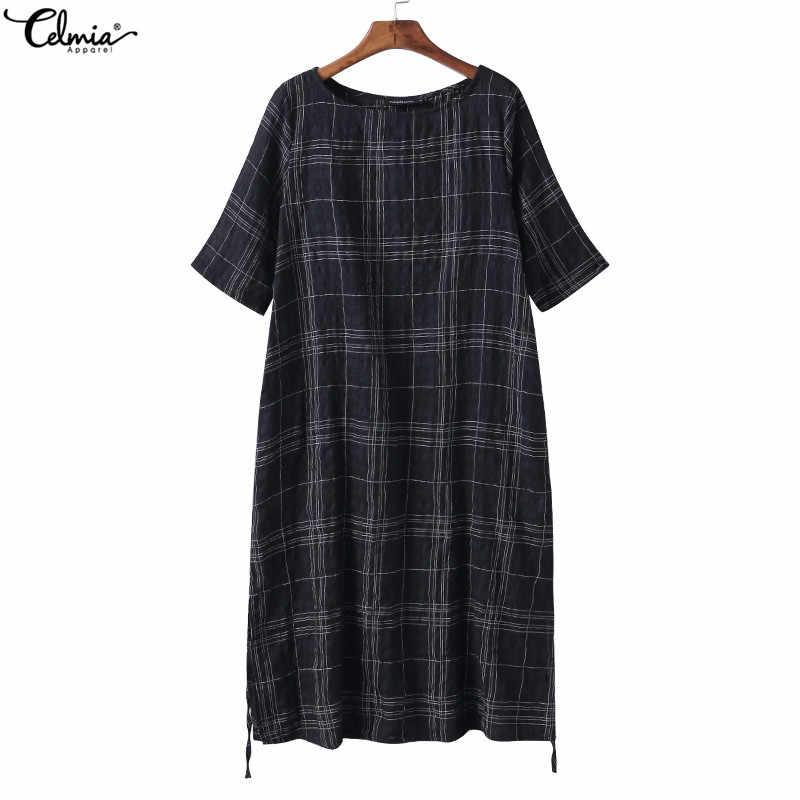 e6b680fa23c4c ... ZANZEA Plus Size Women Blouses Vintage Linen Tops 2019 Summer Long  Sleeve Loose Casual Shirt Retro