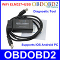 An Innovation ! Code Reader ELM 327 WiFi USB Cable WiFi ELM327 Diagnostic Scanner Works For Multi Brand Cars IOS Android PC