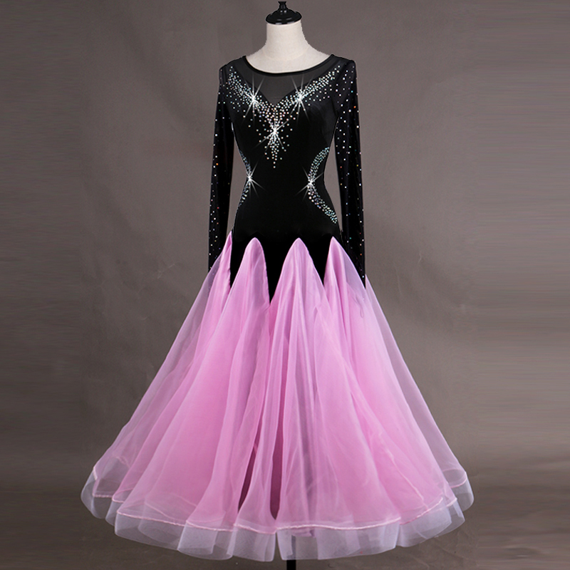 a5ccdd1fb893 Ballroom dance costume senior juvenile sleeveless ballroom dance dresses  for lady ballroom dance competition dresses youth q058