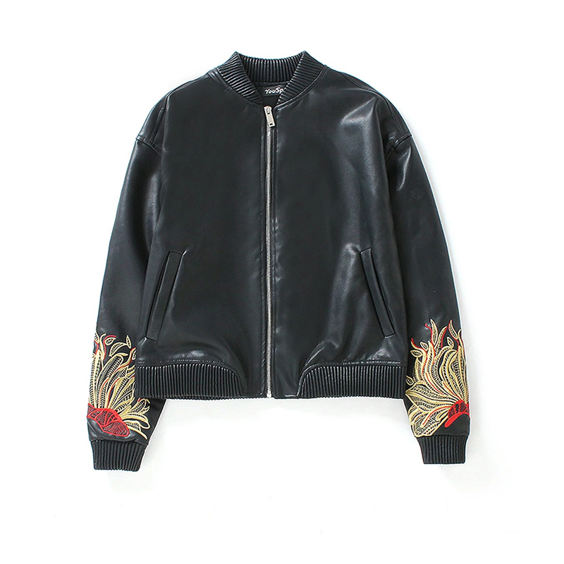 Online Get Cheap Leather Jacket Embroidery -Aliexpress.com