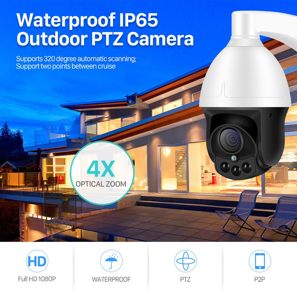 BESDER 4X Auto Zoom IP Camera PTZ Outdoor Waterproof XMEye Speed Dome CCTV Camera 2MP SONY