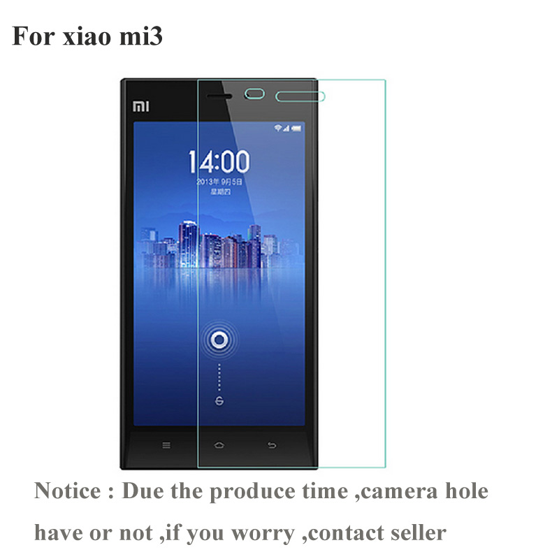 2PCS For Xiaomi Mi3 mi 3 Tempered Glass Screen Protector For