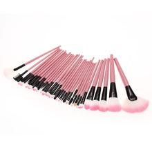 32 PCS Pink Makeup Brush Set with Case Cosmetic Tool Professional Make up Brushes Pinceaux Maquillage Hair Brush Wood Handle