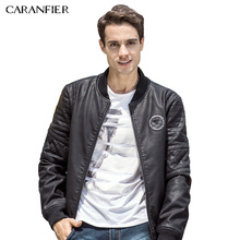 CARANFIER New Brand Winter Mens Leather Jackets Casual Men Vintage Motorcycle PU Faux Jacket Male Washed PU Jacket Thickened