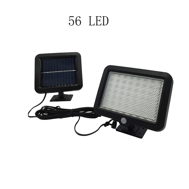 U-EASY 2017 New 56 LED Solar Lights with Motion Sensor and Wall Mount for Barn Porch Garage with Big Solar Panel LED Solar Lamp
