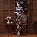 High Quality Female Velvet Cheongsam Dress Chinese Women's Traditional Qipao Elegant Long Sheath Flower Dress S M L XL XXL XXXL