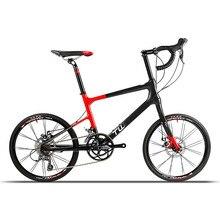 Фотография LARK/1st Generation ultralight carbon fibre professional bike frame carbon fibre front fork 16 speed mechanical disc brake road