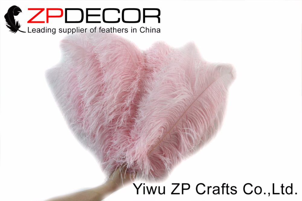 New Color! ZPDECOR 100 pieces/lot feathers 55-60cm(22-24inch)Dyed Pink Ostrich Feathers Drabs DIY for Carnival Decoration