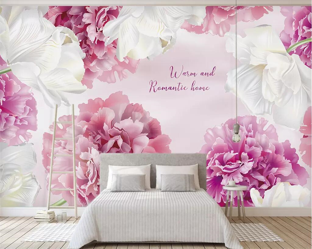 purple bedroom minimalist living floral gradient beibehang offers special wallpapers