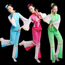 Han costume chinese folk dance for woman classical fan yangko