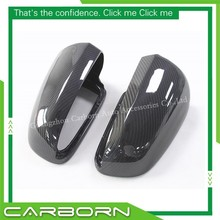 For Audi A4 B7 Replacement Style Carbon Fiber Mirror Cover Body Side Rear View Mirror Cover without turn light signal