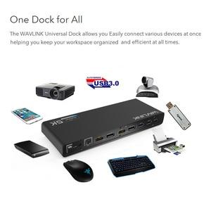 Image 3 - Wavlink العالمي USB 3.0 محطة لرسو السفن USB C المزدوج 4K الترا قفص الاتهام DP Gen1 نوع C جيجابت إيثرنت تمديد ووضع الفيديو مرآة