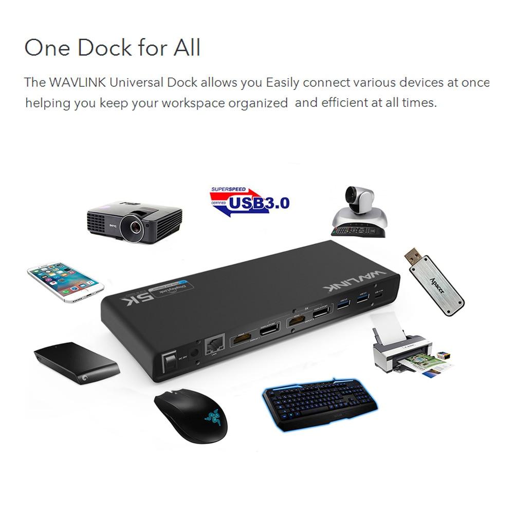 Stacja dokująca Wavlink Universal USB 3.0 USB-C Podwójna stacja - Akcesoria do laptopów - Zdjęcie 3