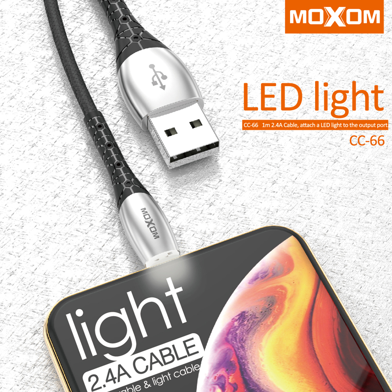 MOXOM LED Lighting Micro USB Cable for Xiaomi Redmi 4X Note 4 5 Reversible Micro USB Charging Cable for Samsung S7 Mobile Phone|Mobile Phone Cables|Cellphones & Telecommunications - title=
