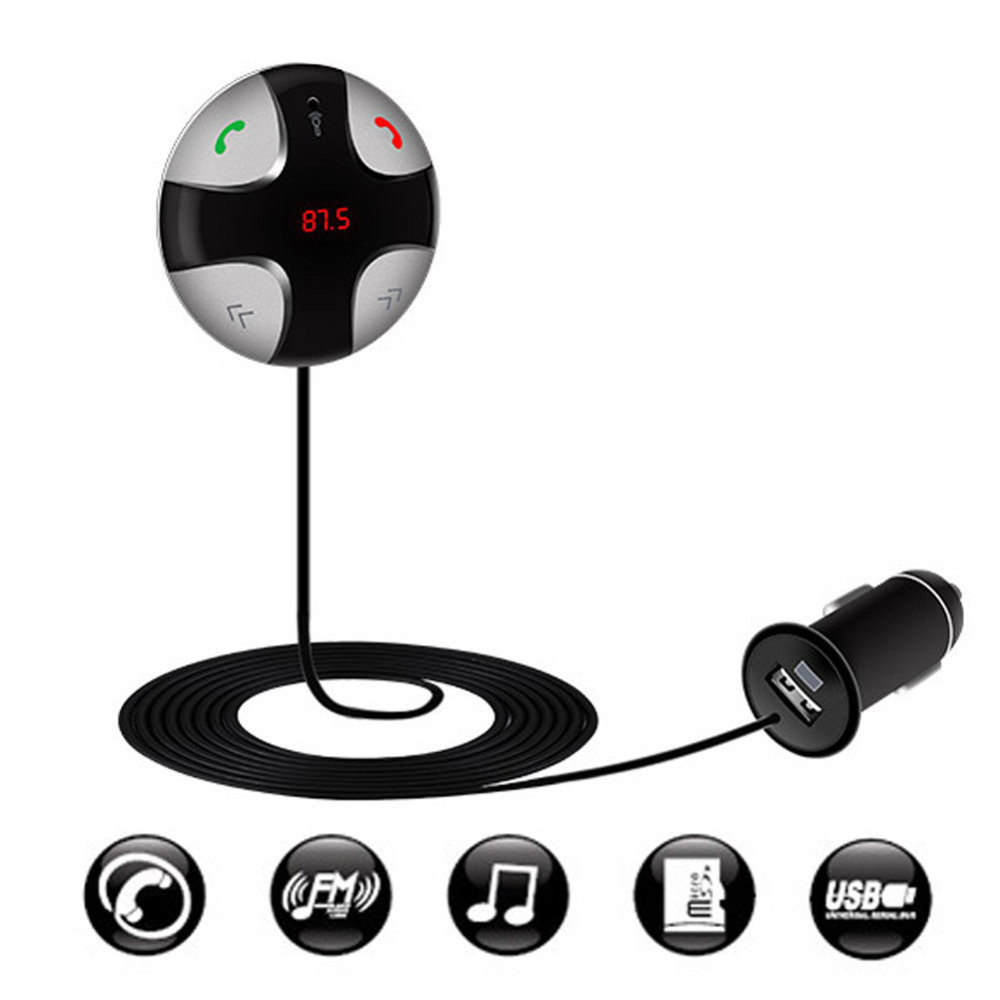 Wireless Bluetooth FM Transmitter Car Kit MP3 Player Handsfree FM Modulator USB Support SD TF Card