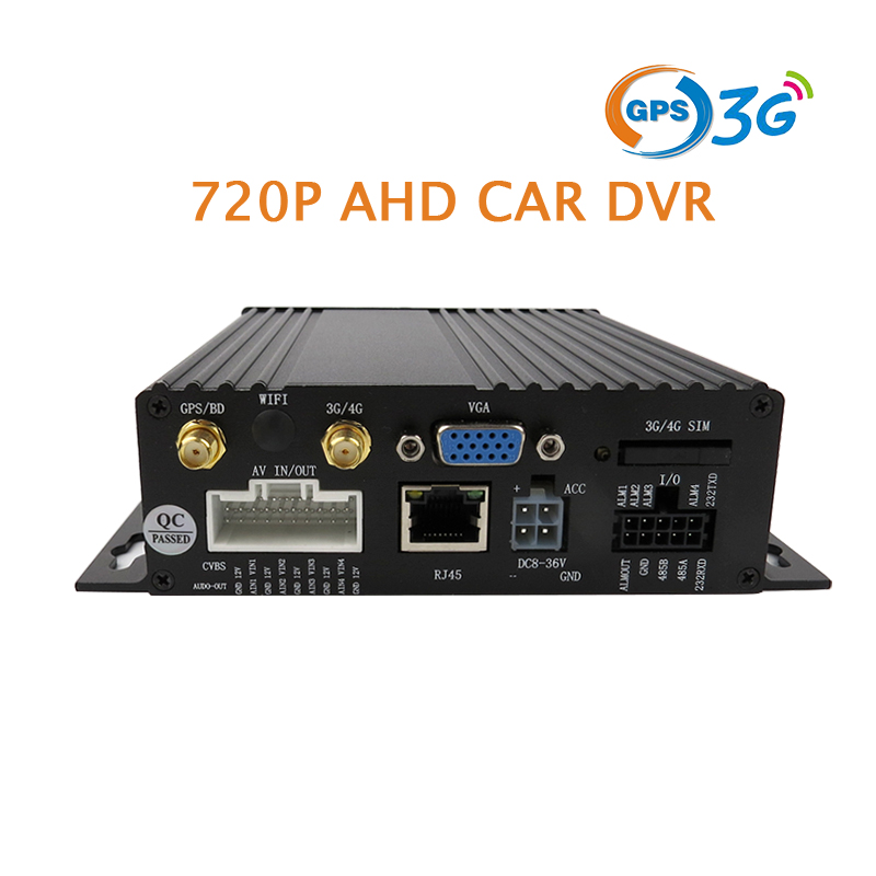 Free Shipping 4CH GPS Track 3G 720P AHD SD Car DVR MDVR Video Recorder Real-time Record Monitor via Phone PC For Bus Taxi Truck free shipping 4ch gps 3g track h 264 i o 256gb sd car mobile dvr recorder mdvr realtime monitor for phone pc for truck van