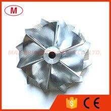 GT15 25 702549 0008HF V1 50.20/65.00mm 6+6 blades Forward High Performance Turbo Aluminum 2618/Milling/Billet Compressor wheel