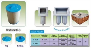 Image 5 - 4 stks/partij hot tub spa zwembad filter 205x150mm handvat 38mm SAE draad filter + gratis verzending