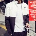 2016 Nueva Llegada del Resorte Sólido de Los Hombres de Moda Chaqueta Delgada Masculina Ocasional ropa cazadora abrigos Slim Fit marca tamaño grande 4XL 5XL