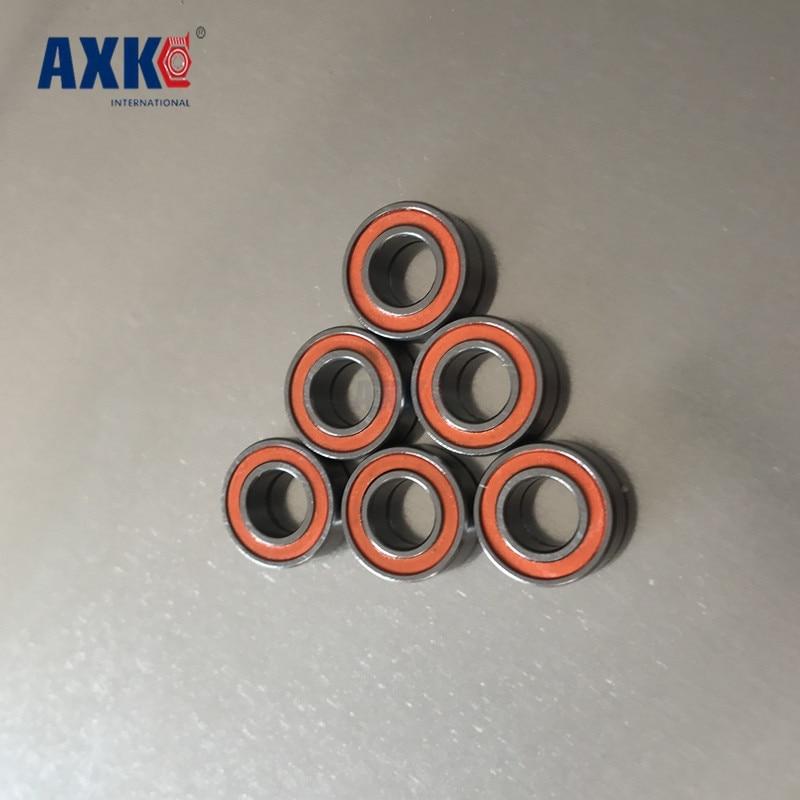 10 PCS Orange MR84-2RS Double Metal Rubber Sealed Ball Bearing 4x8x3 mm