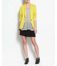 iMucci Black Women Blazers Autumn Jackets Spring Plus Size Long Sleeves Suit Lapel Coat Single Button Office Lady Vogue Blazers