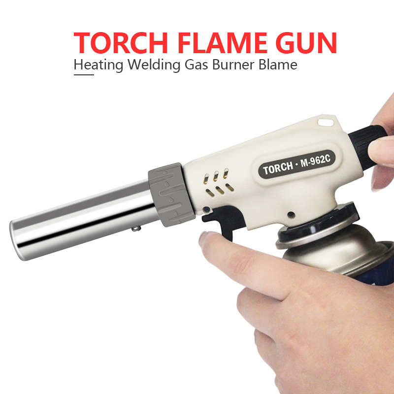 Gas Torch Flame Gun Blowtorch Cooking Soldering Butane AutoIgnition Gas-burner