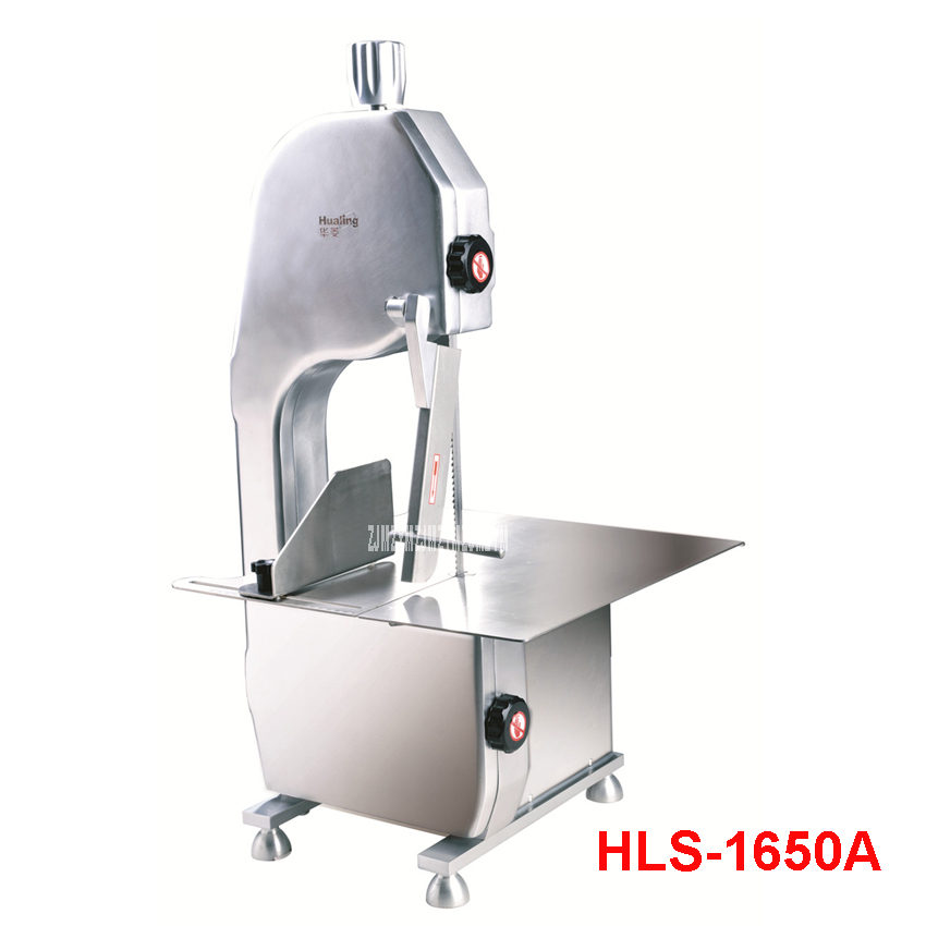HLS-1650A Commercial Saw Bone Machine Bench Cutter Saw Machine Chill Fork Cutter Machine Chop Pork Electric Slicers 750W