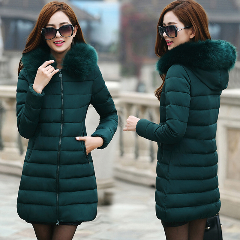 Winter Jacket Women   Parkas   for Coat Female 2019 Faux raccoon fur long Thickening Cotton Outwear casacos de inverno feminino MY45