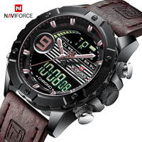 NAVIFORCE Casual Sport Watches for Men Top Brand Luxury Military Leather Wrist Watch Man Clock Fashion Chronograph Wristwatches